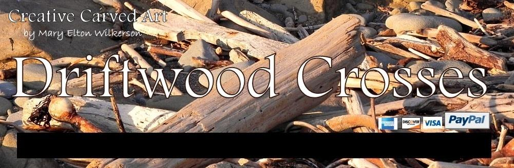 driftwood crosses, creative carved art