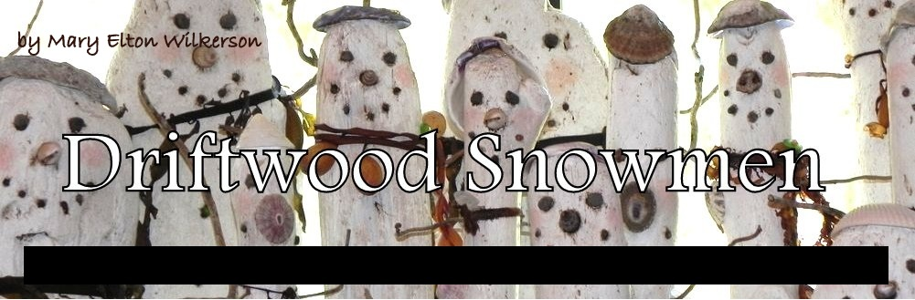 driftwood snowmen, carved art, mary elton wilkerson, creative carved art